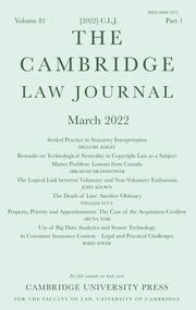The Cambridge Law Journal